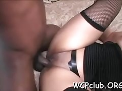 Two white slutty babes are sharing one massive black dick