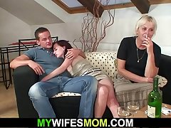Old mother-in-law lures her boy