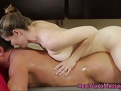 Fetish masseuse spermed