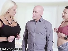 MILF Alura Jenson Loves Being Surprised Away from Hubby &amp_ Teen Mistress