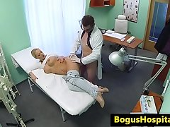 Amazing patient fucked from behind by dr