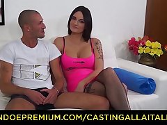 CASTING ALLA ITALIANA - French amateur Marie Clarence enjoys dirty anal casting