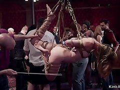 Brunch party and hot slaves submitting