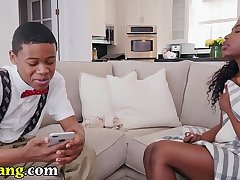 TRYBANG.COM - Noemie Bilas Gets Adulterated By Lil D At bottom Brown Bunnies!