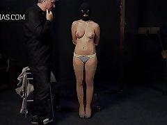 Slave big tits slapped and squeezed