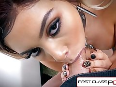FirstClassPOV - Aaliyah Hadid take a monster weasel words in her throat, big boobs