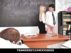 TeamSkeet - Teacher Fucks Students back Detention