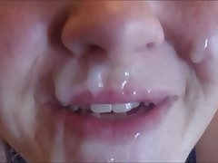 Sadee Gives Hot Girl A Huge Think Facial Shooting Cum All Over Her Face &amp_ Mouth Slow Mo Cumshot