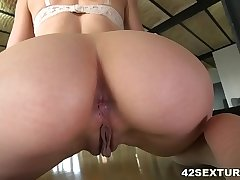 Tight asshole filled nearly thick cock