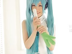 HATSUNE MIKU COSPLAY @FACTORY TEEN MASTURBATION PART 1