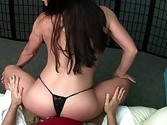 Sexy MILF Lap Dance with Edging Handjob and Titty fucking