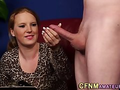 Ginger cfnm amateur sucks