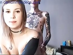 AMAZING TATTOOED BABE GETS FUCKED - more camgirls first of all camonmyvideos.com