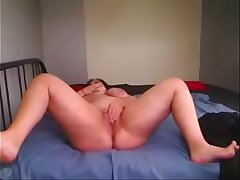 Romanian BBW ClariceonFire spreading her legs,rubbing her clit and playing with a sex toy
