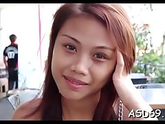 Thai floozy cannot stop engulfing this hard dick of her boyfriend