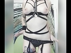 19 years old amateur Anna Maxova homemade strip tease and shows her pussy