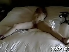 Whore gets orgasams during the time that being forced to sit on vibrator