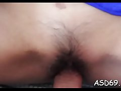 Pretty sexy girl gets will not hear of tiny pussy crushed up by a big cock