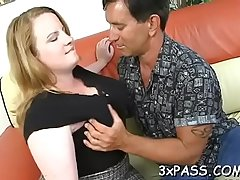 Big fatty woman is feeling bulky dick in mouth and snatch