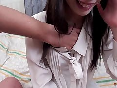 Little Asian Bimbo Gets a Dick and Cum in her Tight Pussy