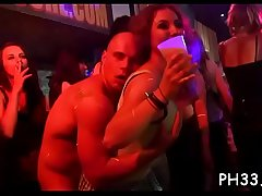 Tons of group-sex on dance floor blow jobs from blondes wild fuck