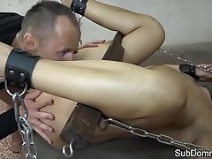 Pussyfucked babe submits to maledom
