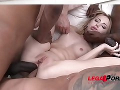 Kira Thorn Vs. four monster cocks &amp_ copy anal