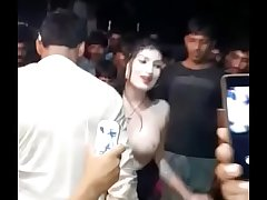 Sexy Dance Mujra here public flashing boobs