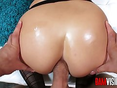 Bamvisions Blonde Kenzie Green Wears Stockings for Anal Sex