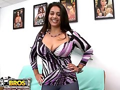 BANGBROS - Busty Latin Amateur Prada XXX Auditions For Us On Facial Fest