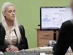 LOAN4K. Blonde beauty pays with sex for the future of her business