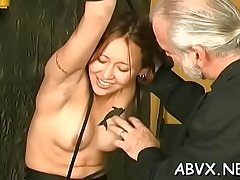 Non-professional thraldom xxx pussy play with estimated toys