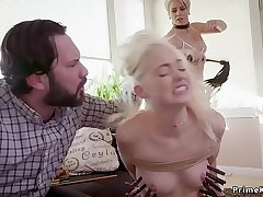 Teen anal fucked in bdsm threesome