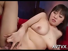 Stud is labelling added to tasting japanese babe'_s curly pussy