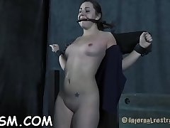 Beauty in latex costume gets wild snatch and anal prodding