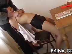 Gal eats pussy and gets humiliated and spanked by a domina