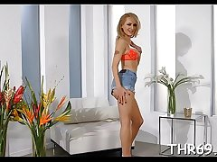 Appealing angel is having lusty fun with dudes divine rod