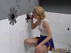 Cheerleader at gloryhole
