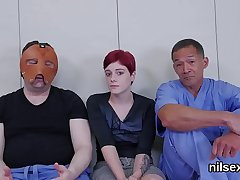 Underhanded chick was taken in ass hole asylum for harsh treatment