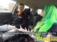 Fake Driving School Wild fuck scenic route for tattooed busty big ass beauty
