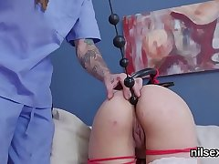 Slutty chick was brought in anal asylum for painful therapy