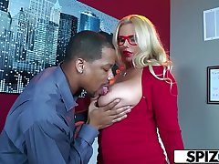 Spizoo - Karen Fisher is fucked by a Big Black Cock, big swag &amp_ big boobs