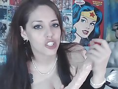 Huge titty fuck and dildo ride