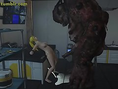 Samus engrossing in Hardcore 3D Monster Porn