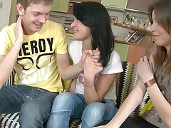 Horny Friends Calling Guy To Fuck!